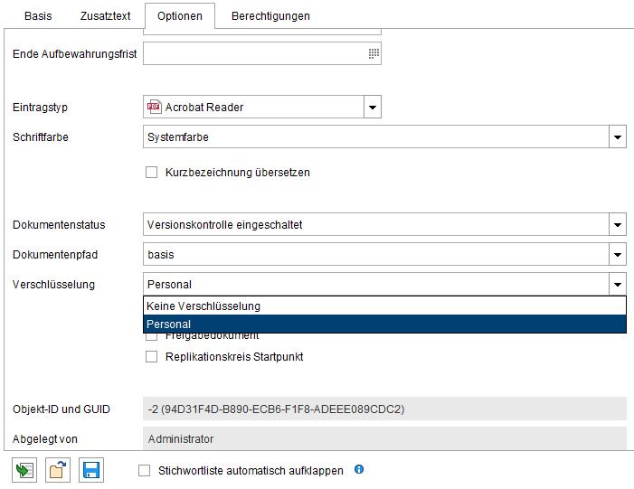 Basisfunktionen ELO Verschlüsselung