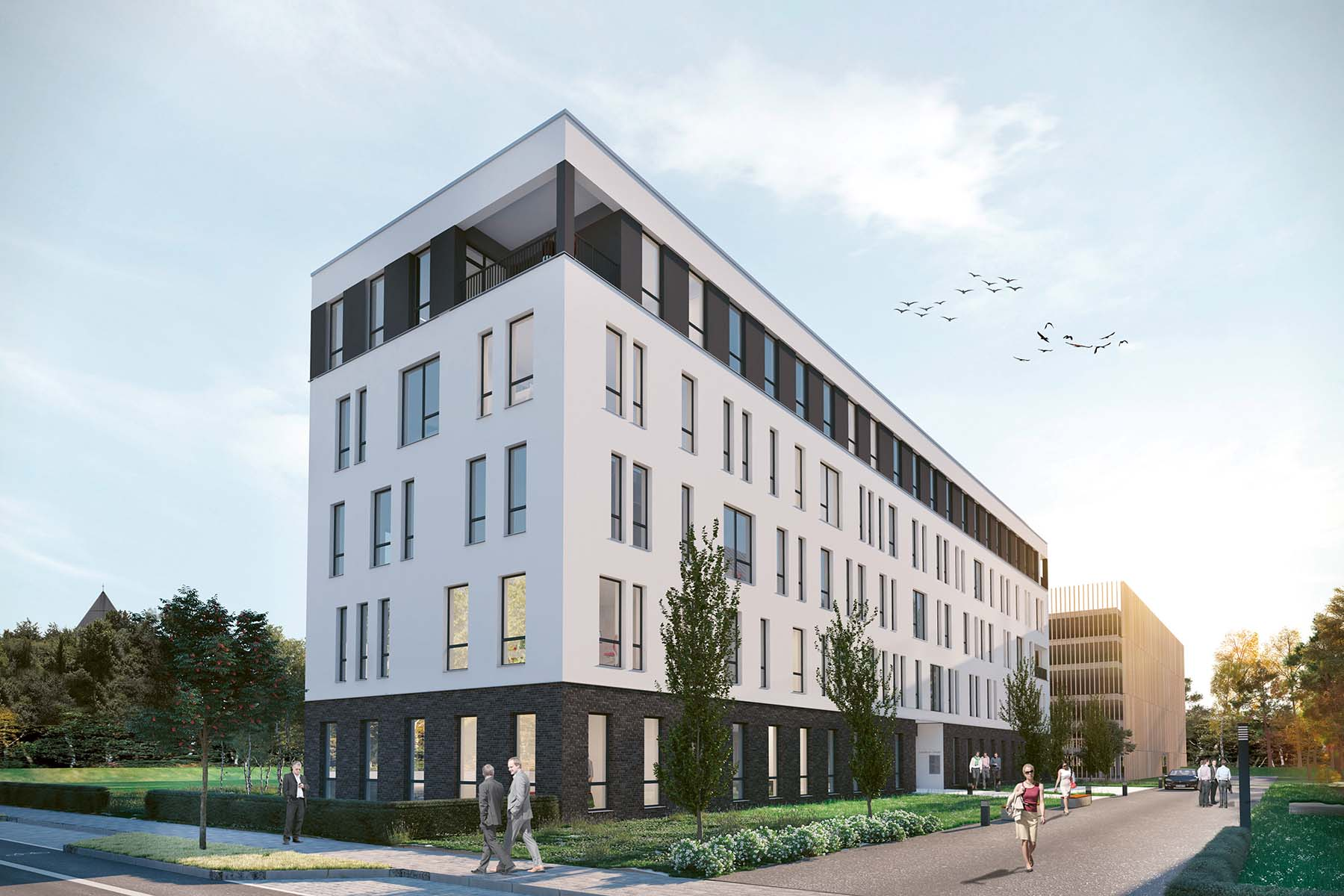 MH1 Immobilien, Magazinhof Kassel, neues Bürogebäude Kassel
