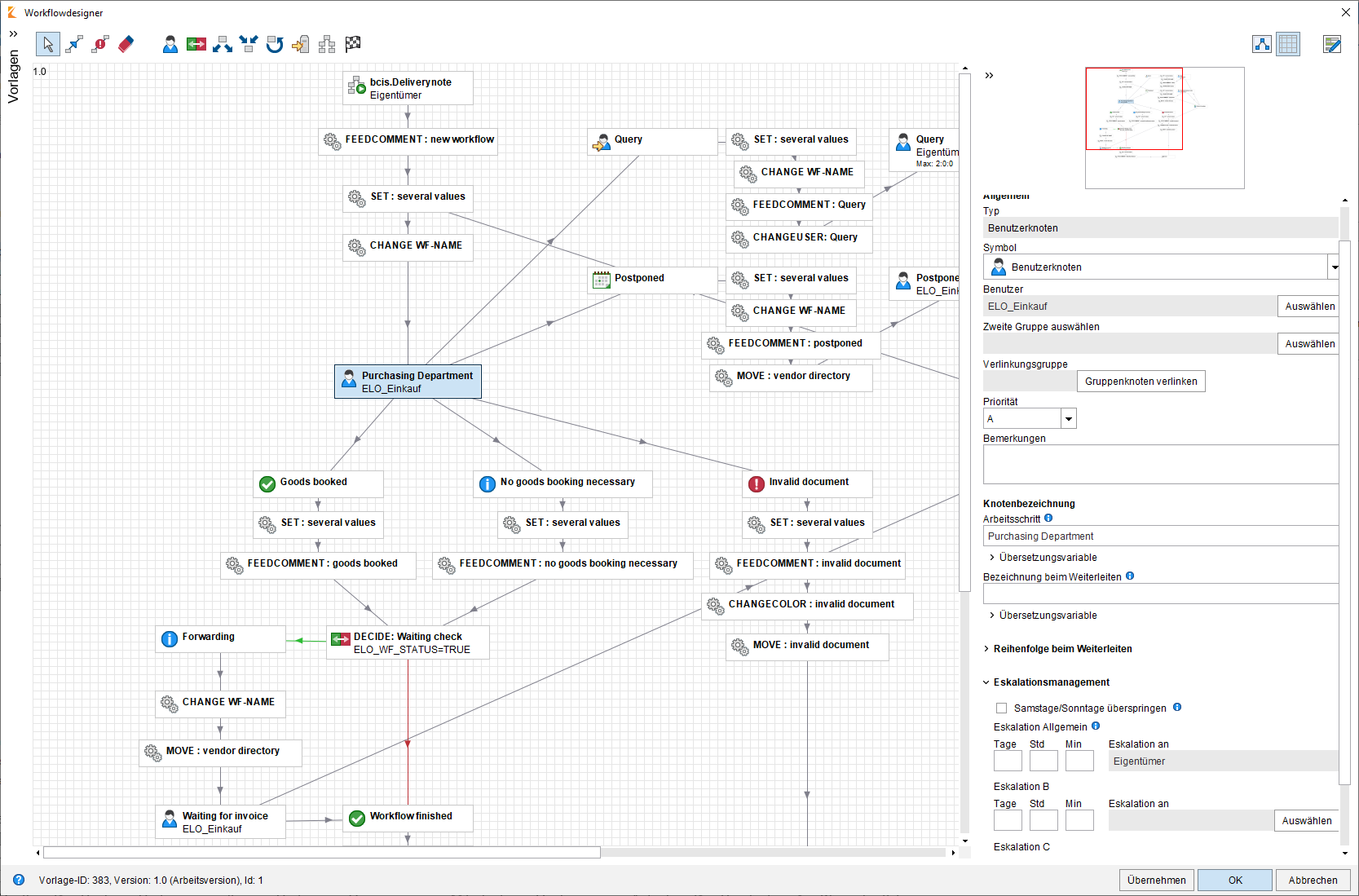 ELO Workflow Management Designer