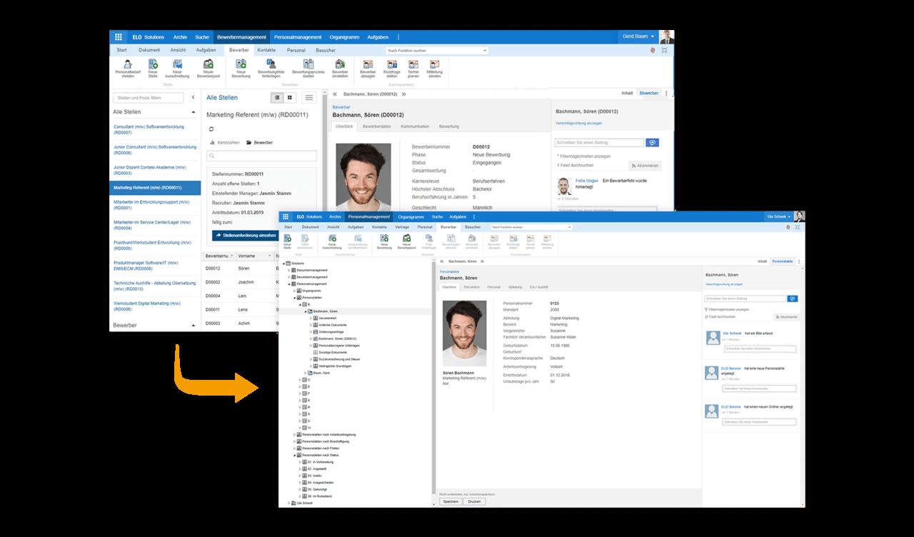 ELO HR Recruiting Personalakte mit ELOcontract erstellen