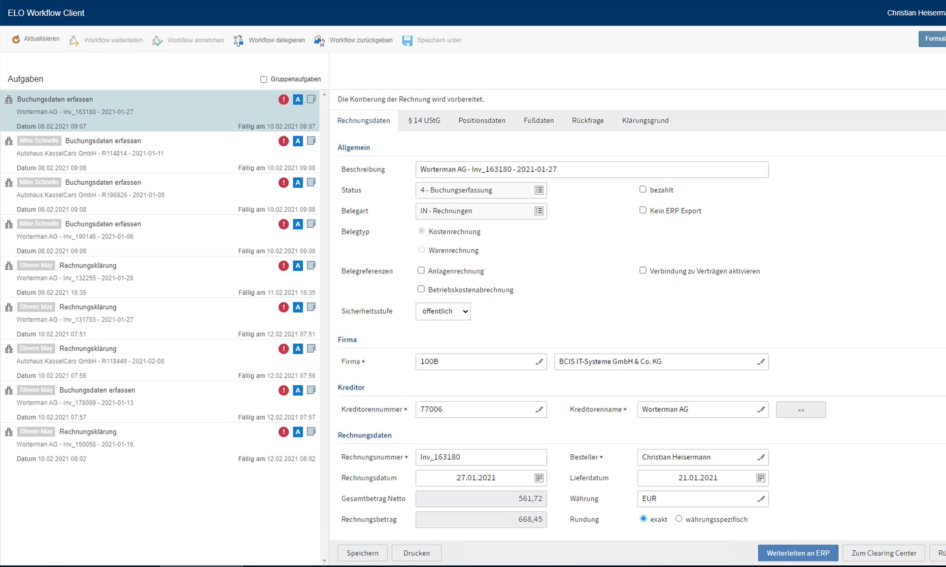 ELO Workflow-Client